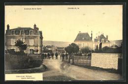 CPA Chablis, Avenue De La Gare, Menschen Auf Der Strasse - Chablis