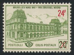 Belgium Railway Stamps 1961 24f On 20f Bronze-green MNH ** Post Office Fresh, COB TR373, Cat. €50 - 1952-....