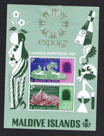 MALDIVE ISLANDS 1967 MONTREAL UNIVERSAL EXHIBITION - 1967 – Montreal (Canada)