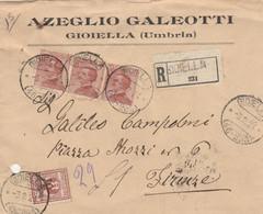 RACCOMANDATA 3X30+10 SS 1924 TIMBRO GIOIELLA Foro Archiviazione (HB2 - Marcophilie
