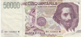 BANCONOTA ITALIA LIRE 50000 BERNINI VF (HB346 - 50000 Liras