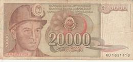 BANCONOTA JUGOSLAVIA 20000 VF (HB390 - Yugoslavia