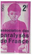 (PP 25) France - (stamp Shape / Cinderella) Association Des Paralysés De France (2fr) 1968 - Fantasy Labels