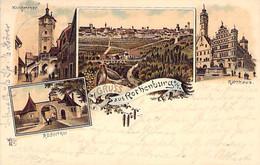 Rothenburg - Mehrbild Litho 1904 - Rothenburg O. D. Tauber