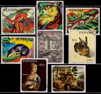 Panama, 1967, Wild Animals, Paintings By Famous Artists, Used With Gum - Panama