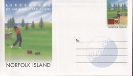 Norfolk Island 2000 Aerogramme  Ovpt Mint - Norfolk Island