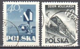 Poland 1954 - Day Of The Railways  - Mi 868-69 - Used - Usati