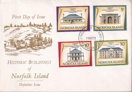 Norfolk Island 1973 Buildings Sc 156,160,163,170 FDC - Norfolk Island