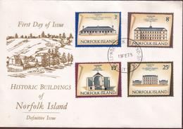 Norfolk Island 1975 Buildings Sc 158,162,166,168 FDC - Norfolk Island