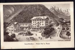 Helvetia - Circa 1930 - Postkarte - Innertkirchen - Hotel Hof & Poste - A1RR2 - BE Berne