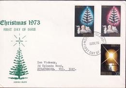 Norfolk Island 1973 Christmas Sc 153-55 FDC - Norfolk Island