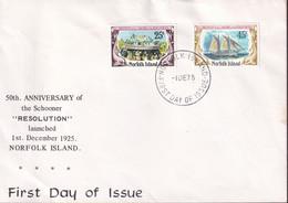 Norfolk Island 1975 Resolution Sc 192-93 FDC - Norfolk Island