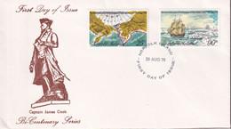 Norfolk Island 1978 Cook's Voyage Sc 235-36 FDC - Norfolk Island