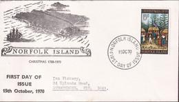 Norfolk Island 1970 Christmas Sc 143 FDC - Norfolk Island