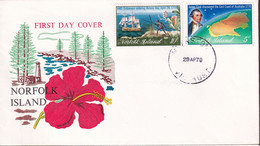 Norfolk Island 1970 Cook's Discovery Sc 141-42 FDC - Norfolk Island