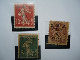 CILICIA FRANCE 3 OVERPRINT O.M.F  MLH - Neufs