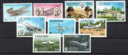 T1-18 Lesotho N° 546 à 548 + 821 à 824 ** A Saisir !!!  Avions - Lesotho (1966-...)