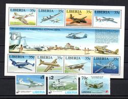 T1-18 Liberia N° 1261 à 1268 + 1273 + 1297 + 1298  ** A Saisir !!!  Avions - Liberia