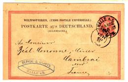 46949 - Entier De HALLE - Storia Postale