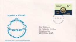 Norfolk Island 1980 Rotary Sc 255 FDC - Norfolk Island