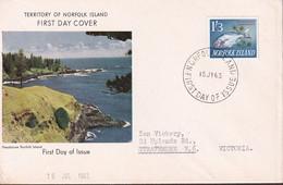 Norfolk Island 1963 1/3 Fish Sc 54 Mint Never Hinged - Norfolk Island