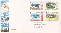 Norfolk Island 1980 Planes Sc 259-61,269 FDC - Norfolk Island