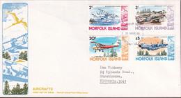 Norfolk Island 1980 Planes Sc 257-58,262,270 FDC - Norfolk Island