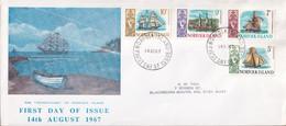 Norfolk Island 1967 Ships Sc 104-07 FDC - Norfolk Island