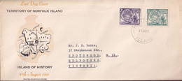Norfolk Island 1956 Landing Of Pitcairners  Sc 19-20 FDC - Norfolk Island