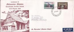 Norfolk Island 1966 Melanesian Church Sc 97-98 FDC - Norfolk Island