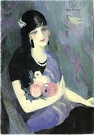 """MARIE LAURENCIN  """"La Baronne Gourgaud à La Mantille Noire 1924"""" RV - Frauen"""