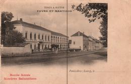 Panissières (Loire) Filature Favre Et Martinod, Tissus à Bluter - Bonne Année - Carte Bergeret Non Circulée - Andere Gemeenten