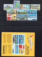 T1-20 Ile Maurice PA N° 377 à 380 + 436 à 439 + BF 6 **  A Saisir !!!  Avions - Mauricio (1968-...)