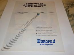 ANCIENNE PUBLICITE PARIS DAKAR AVEC EUROPE 1 1988 - Altri