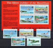 T1-20 Ile Maurice PA N° 795 à 798 + BF 15 **  A Saisir !!!  Avions - Mauricio (1968-...)