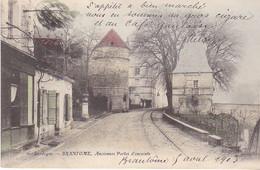 BERG19-  BRANTOME  EN DORDOGNE ANCIENNES PORTES D'ENCEINTE  CPA  CIRCULEE COLORISEE - Brantome