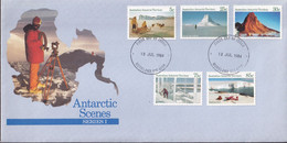 Australian Antarctic Territory 1984-87 SC L61,65,66,71,72 FDC - FDC
