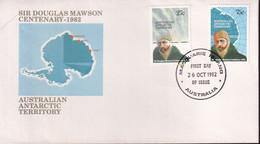 "Australian Antarctic Territory 1982 'Macquarie Island Cancel"" Sc L53-54 FDC - Covers & Documents"
