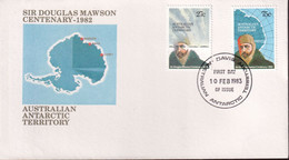 "Australian Antarctic Territory 1982 'Davis Base Cancel"" Sc L53-54 FDC - Covers & Documents"