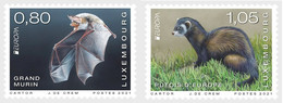 Luxembourg  MNH ** 2021  Europa 2021 - Endangered National Wildlife Set M - 2020