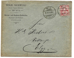 87 - 50 - Enveloppe Envoyée De Wil 1904 - Superbes Cachets à Date - Covers & Documents