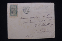 """MADAGASCAR - Enveloppe Pour L'Algérie En 1899, Oblitération """" Madagascar  33 """" , Oblit. De Mananjary Au Dos  - L 97792 - Briefe U. Dokumente"""