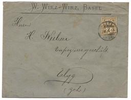 87 - 61 - Enveloppe Envoyée De Basel 1898 - Covers & Documents