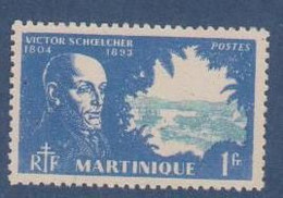 MARTINIQUE                N° YVERT   206    NEUF AVEC   CHARNIERES    (  CHARN  4/03 ) - Unused Stamps