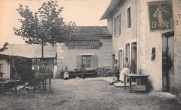 PORT-GALLAND - Vue De L'Hôtel Bellevue, Deschamps - Philatélie Cachet En Pointillés Saint-Maurice-de-Gourdans - Altri Comuni