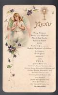 Menu  De Communion  (carton) (sl Et Sd , Début XXe) Avec Une Carte Des Vins Miraculeuse (PPP28844) - Menus