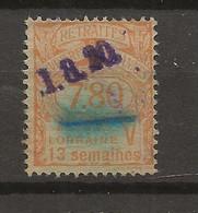 FISCAUX  FRANCE SOCIO-POSTAUX D'ALSACE LORAINNE N°65  7F80 Jaune COTE 200€ - Revenue Stamps