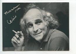 Léo Ferré  - Autographe -association Spectacle La Roue Tourne  (cp Vierge) - Singers & Musicians