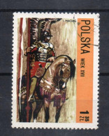 # POLONIA POLAND POLSKA - 1972 - I.MACIAG Painting Art Uniform Horse Used Stamp - Usati