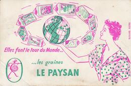 Buvard & Blotter - Les Graines LE PAYSAN - Mappemonde - Non Classés